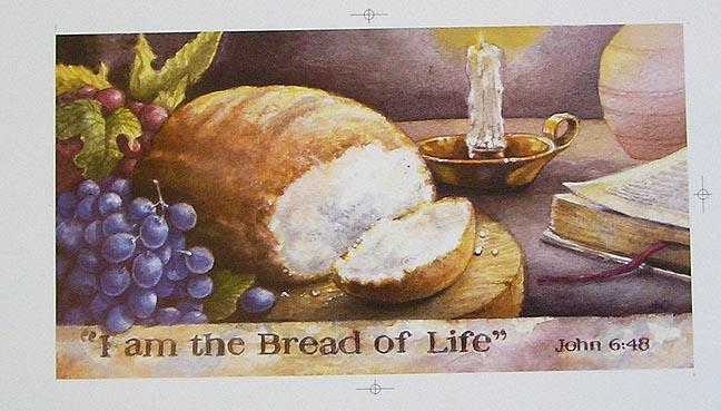 Il vangelo di domani (Io sono il pane della vita Gv, 6,35) dans immagini sacre print_i_am_the_bread